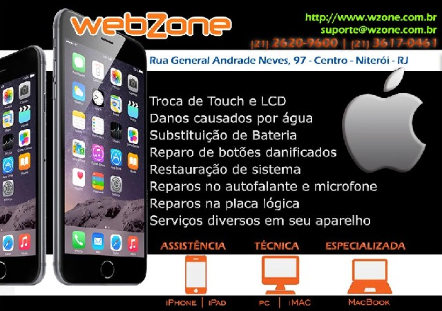 Assistência iphone- ipad- ipod- imac- macbook air
